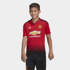 Домашняя игровая футболка Манчестер Юнайтед adidas Performance
