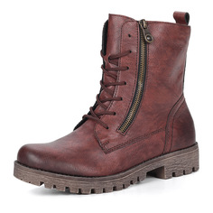 Ботинки Бордовые ботинки на высокой шнуровке Rieker