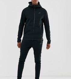 Черные флисовые джоггеры Nike Tall Tech
