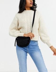Кожаная сумка-кошелек на пояс с застежкой на молнию Urbancode