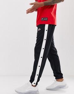 Черные джоггеры с кнопками Nike