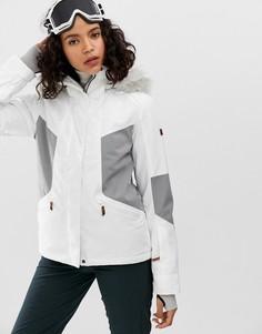 Белая лыжная куртка Roxy Atmosphere