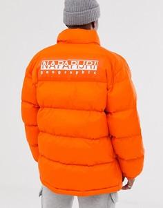 Оранжевая дутая куртка Napapijri Ari