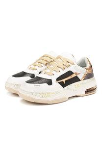 Кожаные кроссовки Drake Premiata