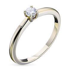 Кольцо из желтого золота с бриллиантом э03к011629 ЭПЛ Якутские Бриллианты