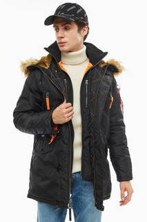 Куртка 133148 black/orange Alpha Industries