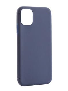 Чехол Zibelino для APPLE iPhone 11 2019 Soft Matte Dark Blue ZSM-APL-11-DBLU