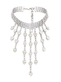 Alessandra Rich колье-чокер с кристаллами