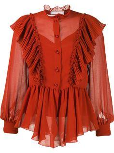 See By Chloé блузка Neo-Victorian с оборками