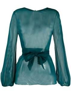 Gianluca Capannolo прозрачная блузка с длинными рукавами