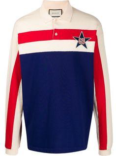 Gucci рубашка поло с вышитым логотипом GG