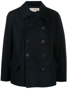 Golden Goose двубортное пальто со вставками
