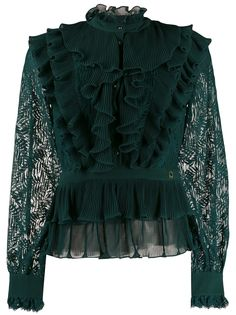 Just Cavalli блузка с оборками