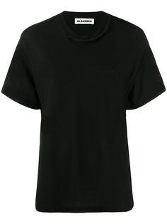 Jil Sander футболка с вязаными вставками