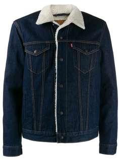 Levis джинсовая куртка с овчиной