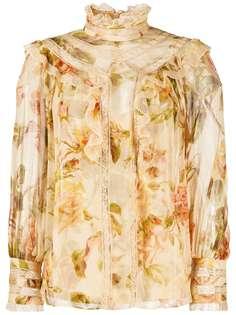 Zimmermann блузка с цветочным принтом