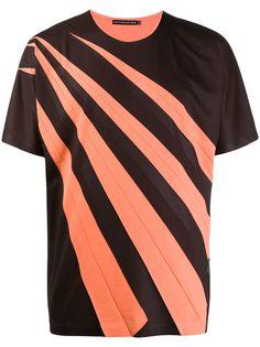 Issey Miyake футболка с контрастными полосками