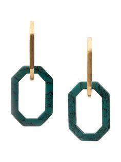 Oscar de la Renta серьги-кольца восьмиугольной формы