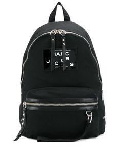Marc Jacobs лакированный рюкзак с нашивкой-логотипом