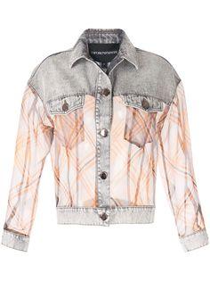 Emporio Armani джинсовая куртка с контрастными вставками