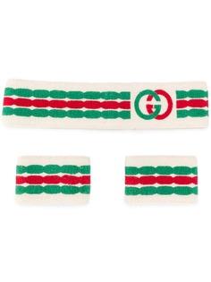 Gucci повязка на голову и манжета с логотипом GG