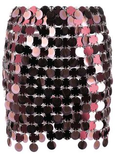 Paco Rabanne декорированная юбка мини