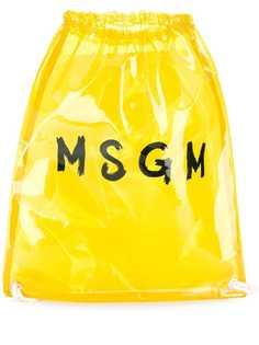 MSGM прозрачный рюкзак с логотипом