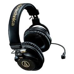 Наушники с микрофоном AUDIO-TECHNICA ATH-PG1, 3.5 мм, накладные, черный [15118120]