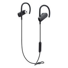 Наушники с микрофоном AUDIO-TECHNICA ATH-SPORT70BT, Bluetooth, вкладыши, черный [15119963]