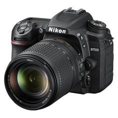 Зеркальный фотоаппарат NIKON D7500 kit ( 18-140mm f/3.5-5.6G VR), черный