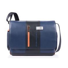 Сумка мужская Piquadro Urban CA1592UB00/BLGR синий/серый натур.кожа