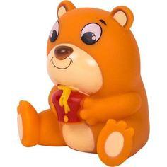 Игрушка для ванны Happy Snail Медвежонок Берни, 7 см