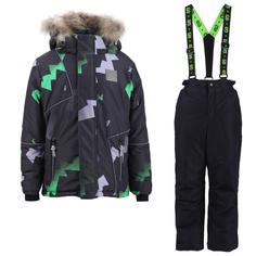 Комплект куртка/полукомбинезон StellaS Kids Waves, цвет: зеленый