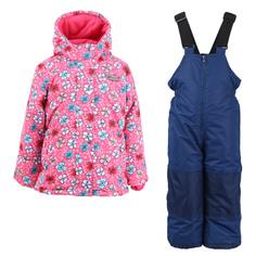 Комплект куртка/полукомбинезон Salve, цвет: розовый/т.синий