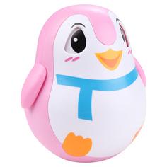 Игрушка-неваляшка Zhorya Пингвин розовый