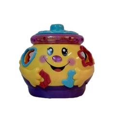 Обучающая игрушка Умка Музыкальный горшочек с синей крышкой, 16 х 16 х 4 см Umka