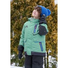 Комплект куртка/полукомбинезон Oldos, цвет: зеленый