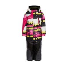 Комплект куртка/брюки AtPlay, цвет: розовый/желтый