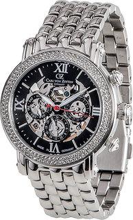 Женские часы в коллекции Skeleton Женские часы Carl von Zeyten CVZ0062BKMB