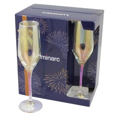 Набор бокалов для шампанского Luminarc золотой хамелеон 6х160мл
