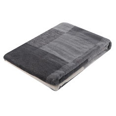 Плед Biederlack 150x200 клетка/серый