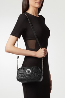Черная сумка с монограммами Philipp Plein