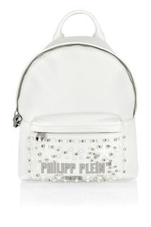 Белый рюкзак с отделкой Philipp Plein