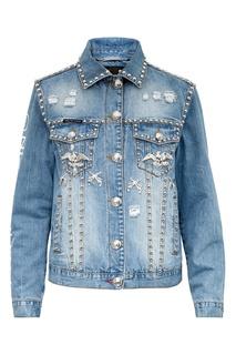 Джинсовая куртка с металлическим декором Philipp Plein
