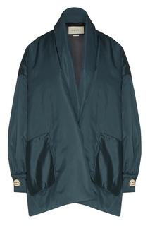 Куртка с пышными рукавами и шарфом Gucci