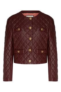 Стеганая куртка сиреневого цвета Gucci