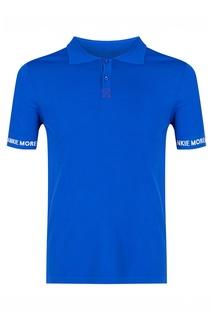 Синее поло с короткими рукавами Frankie Morello