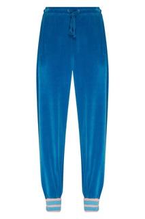 Велюровые брюки голубого цвета Gucci