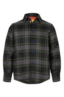 Клетчатая куртка с яркой подкладкой #Mumofsix