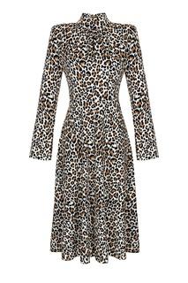Длинное платье с леопардовым рисунком Artem Krivda